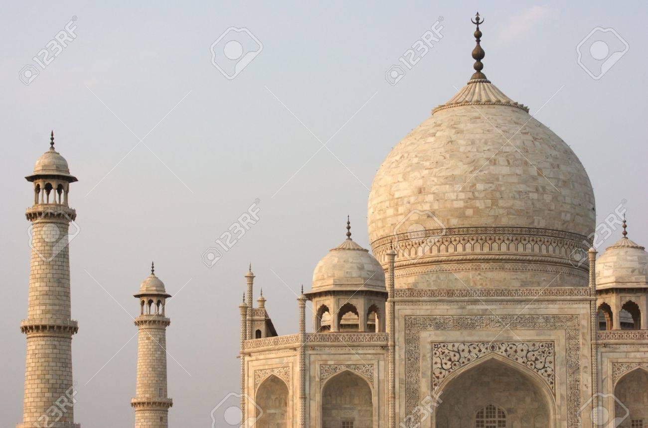 mausoleum named Taj Mahal in Agra, India at evening time Stock Photo - 13970241