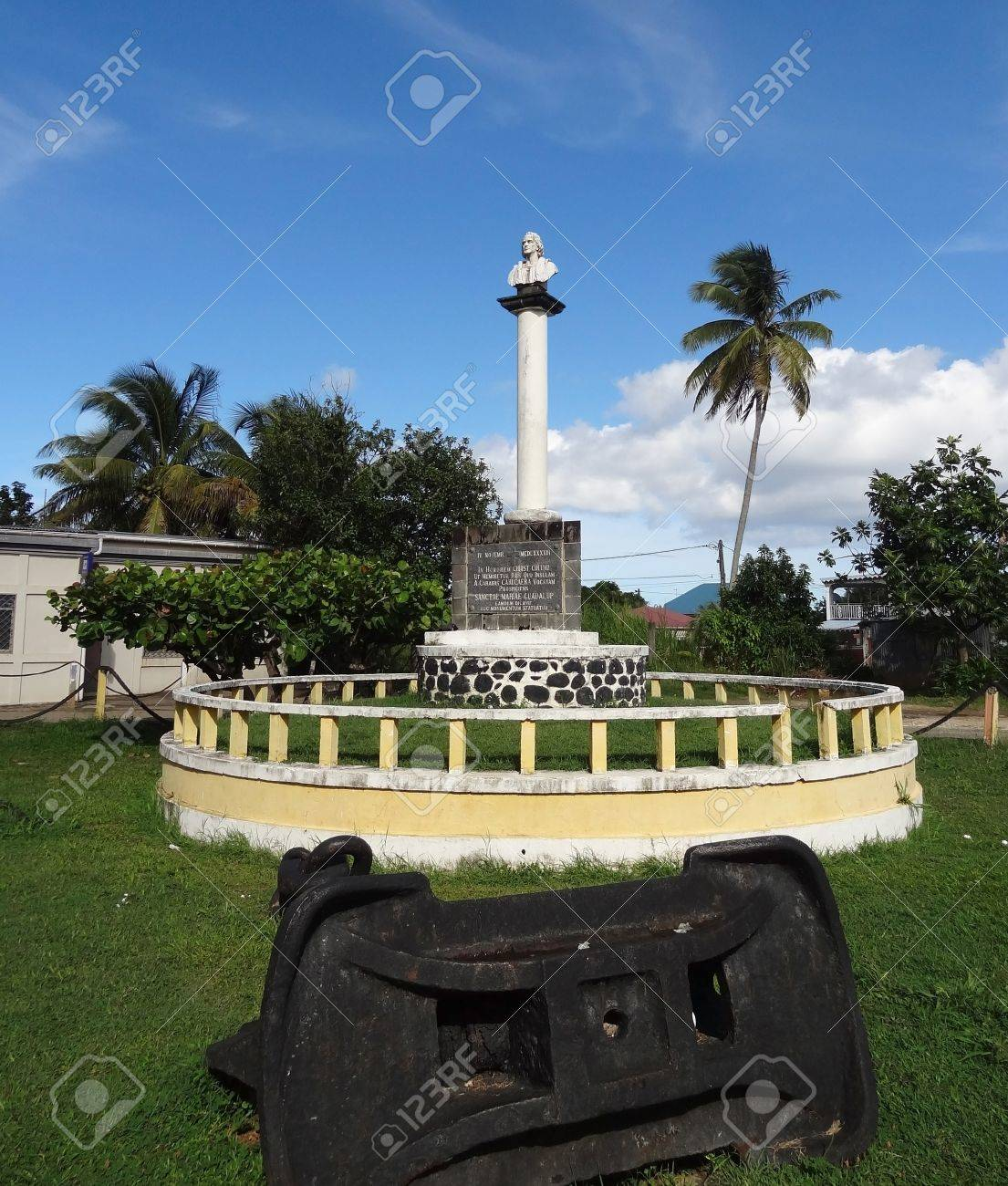 christopher columbus memorial at guadeloupe caribbean france