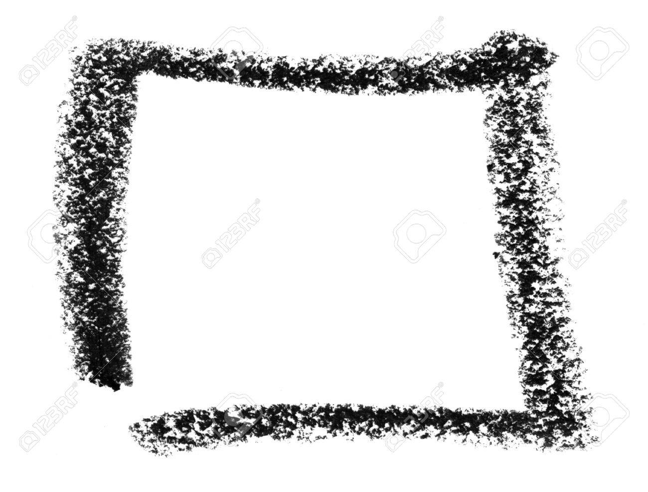 crayon painted square in white back Stock Photo - 18935062