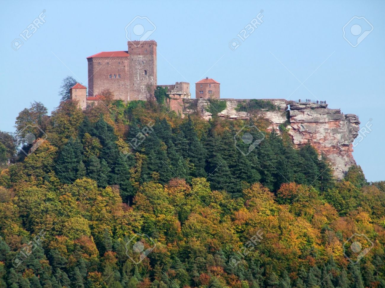 Image result for castle at Trifels in Germany photo