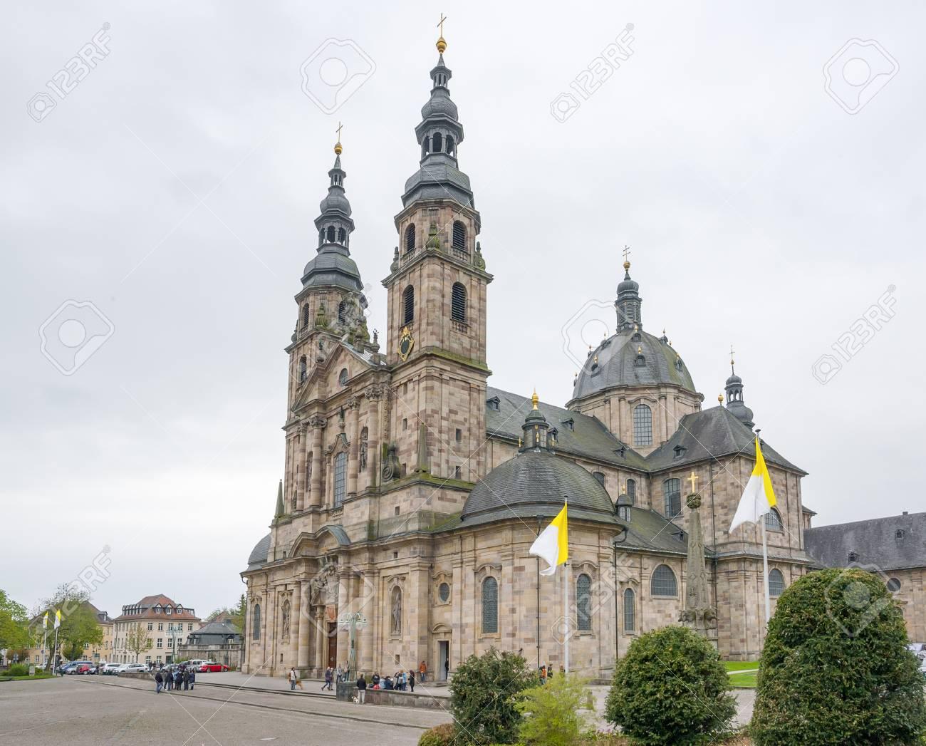 フルダ、ドイツ、ヘッセン州の都市でフルダ大聖堂 の写真素材・画像 ...