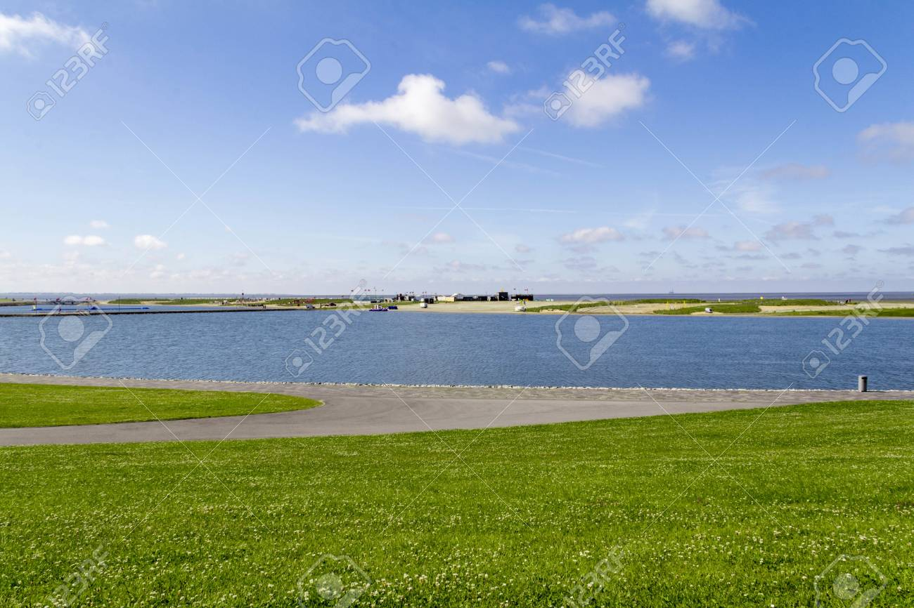 best sneakers 01858 ca772 coastal scenery around Buesum in Dithmarschen at Schleswig-Holstein,..