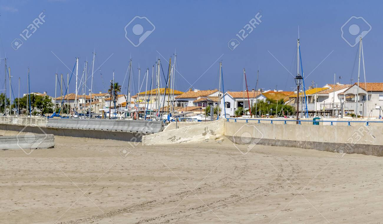 Coastal Scenery At Saintes Maries De La Mer The Capital Of The
