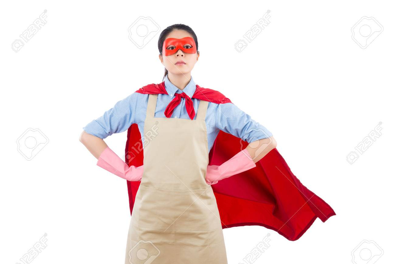 Superior Stock Photo   Successful Superhero House Clean Worker Standing And Ready  For Cleaning Services Janitorial. Isolated On White Background. Housework  And ...