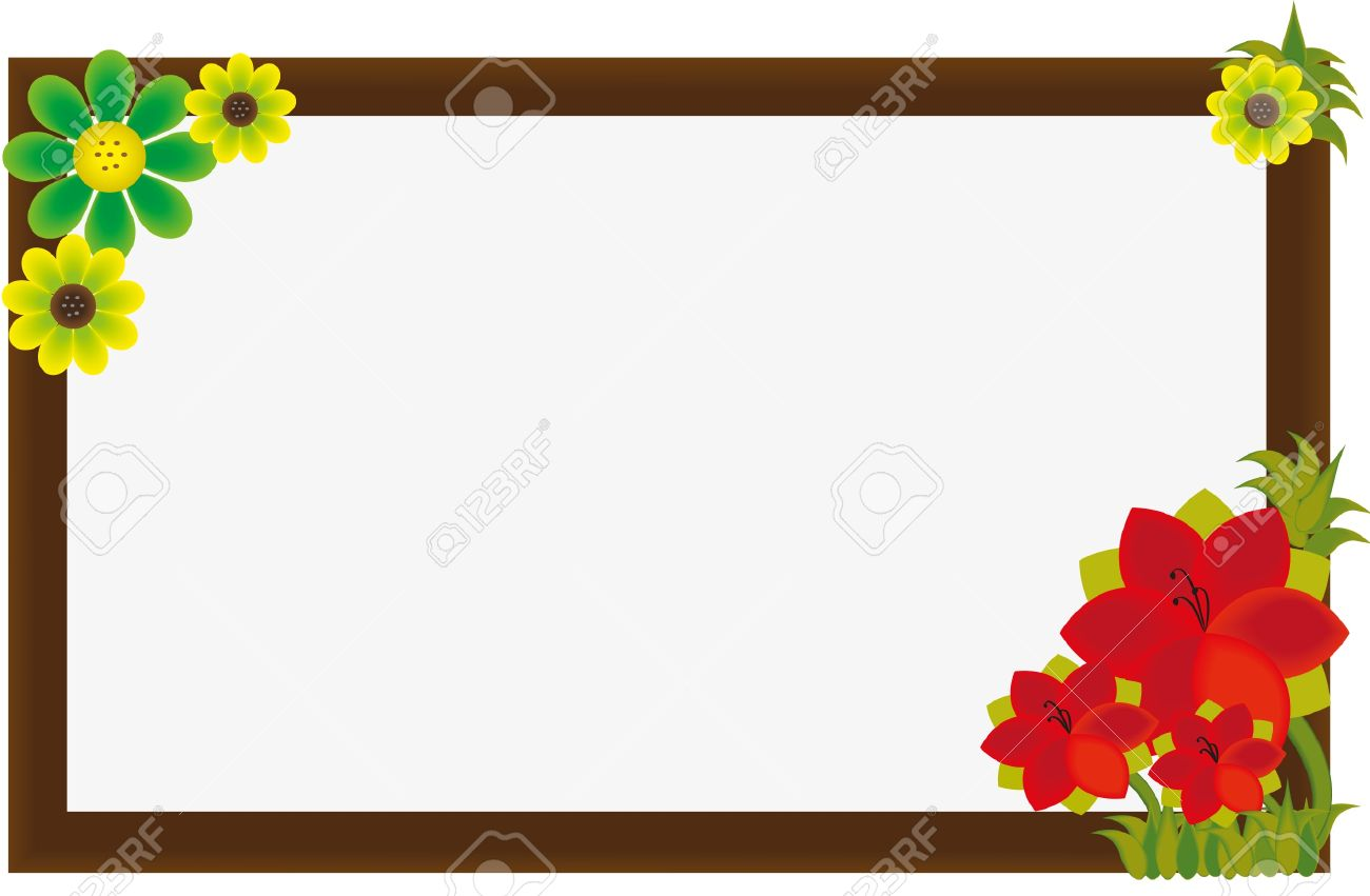 Beautiful Flower Frame Royalty Free Cliparts, Vectors, And Stock ...