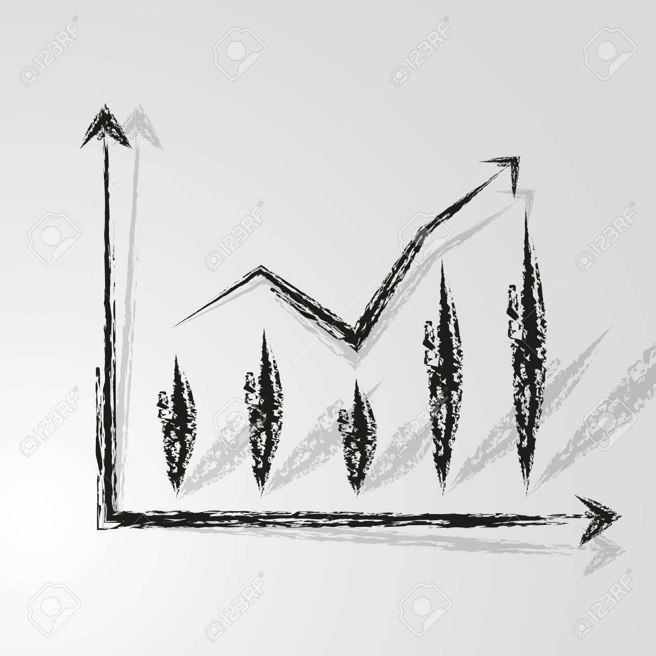 Good  target prospects graph. Stock Vector - 11651053