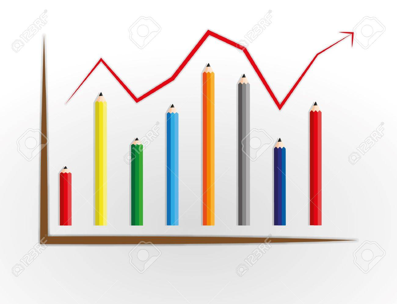 Good business graph process by pencil. Stock Vector - 11804242