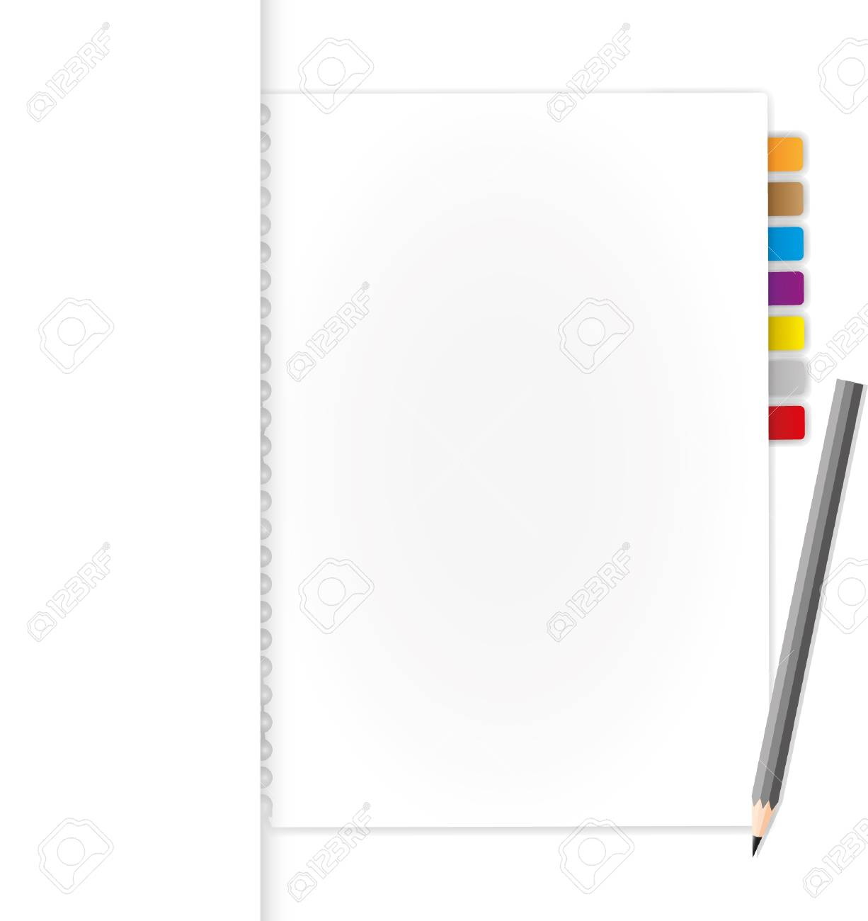Blank document in folder and pencil. Stock Vector - 11804273