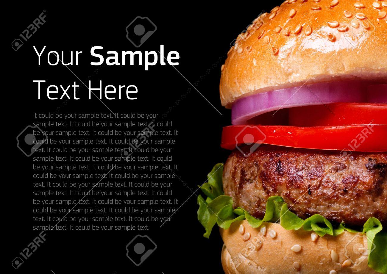 Burger on black background - 16439404