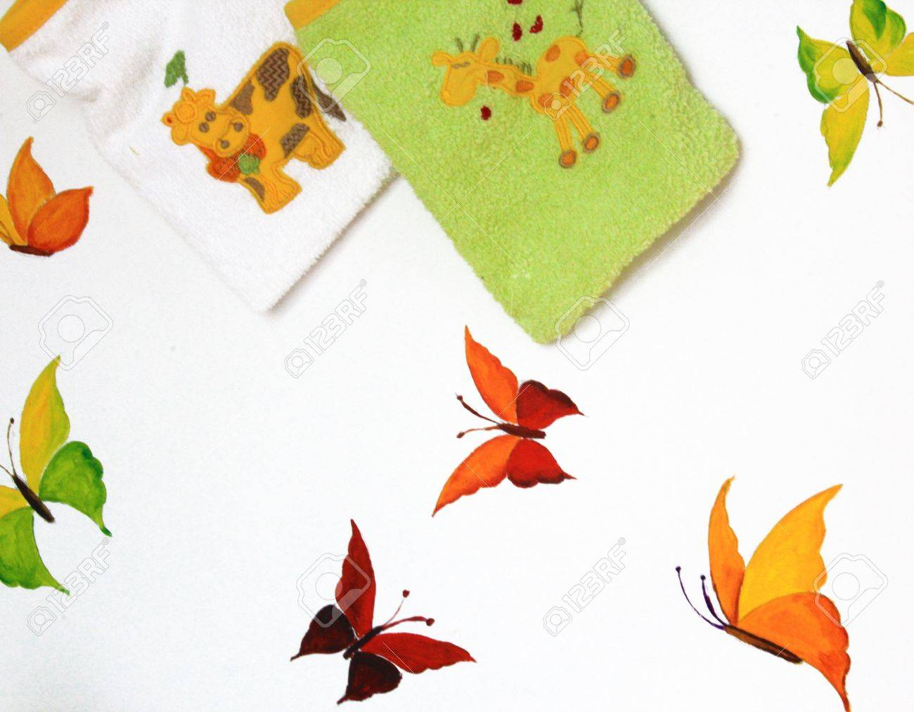 Decoration on wall of children Stock Photo - 11585622