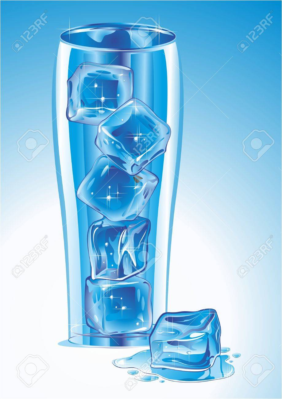 Glass with ice. Vector illustration. Stock Vector - 10648544