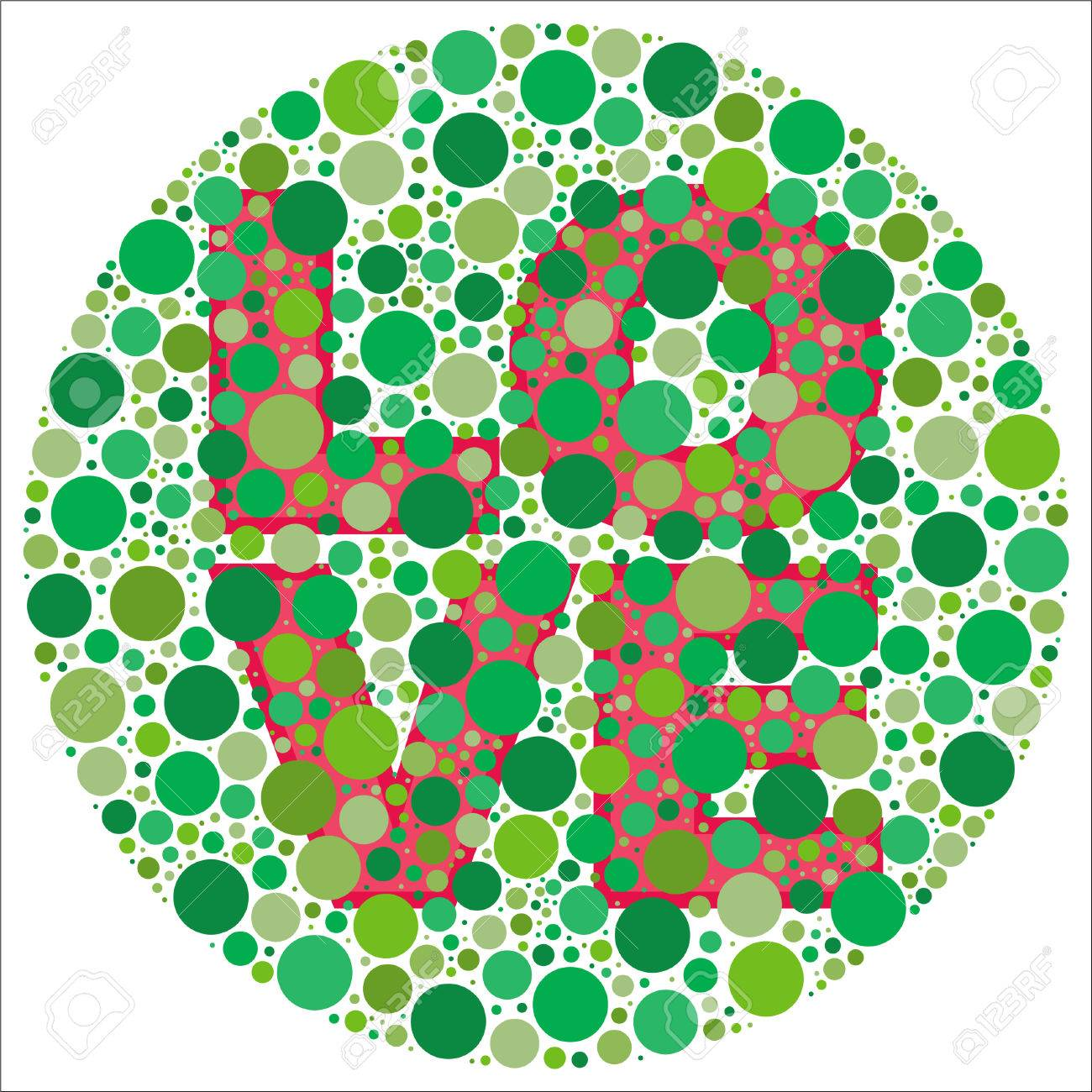 Inspired By Colour Blind Tests, The Word LOVE Is Behind Green ...
