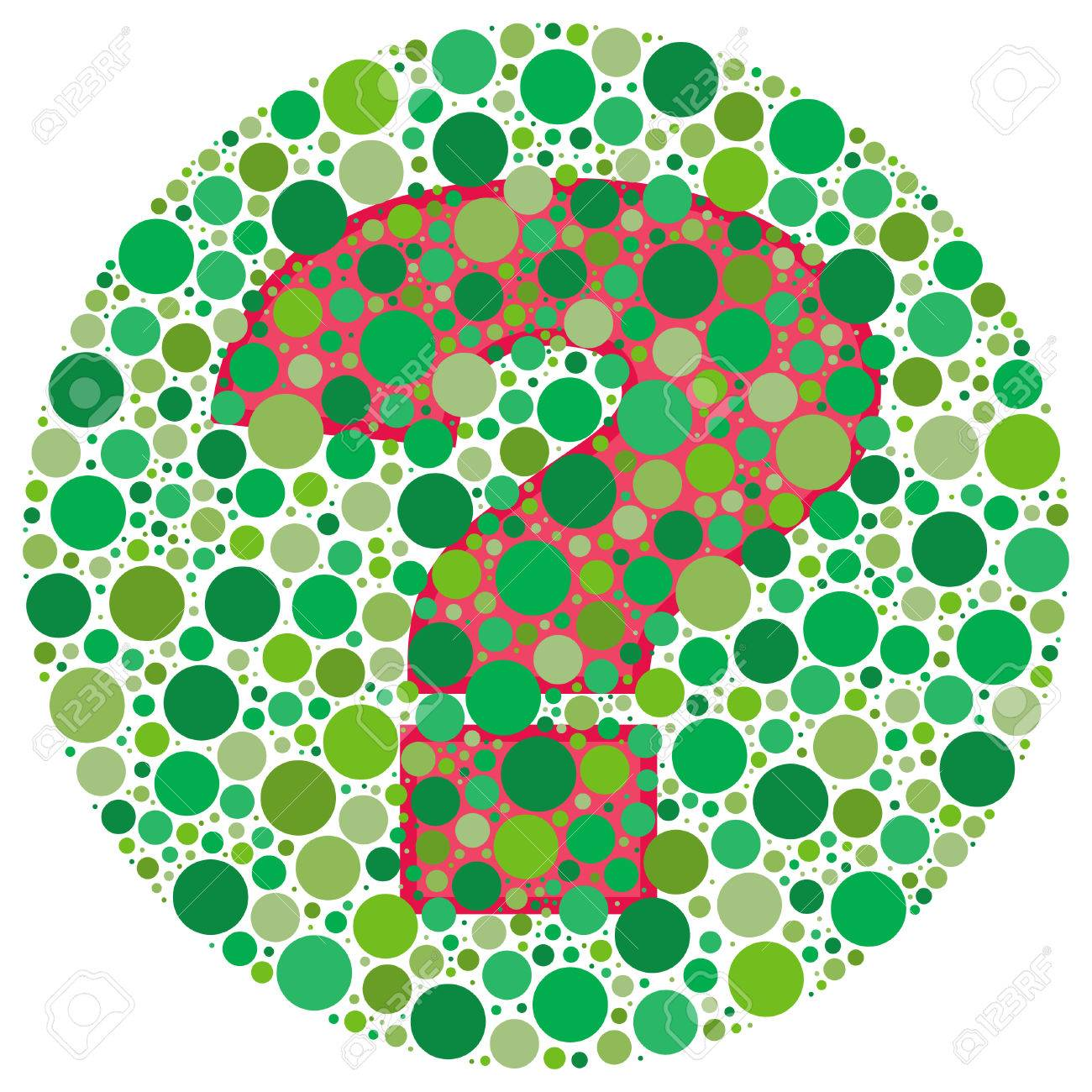 Inspired By Colour Blind Tests, The Question Mark Is Behind Green ...
