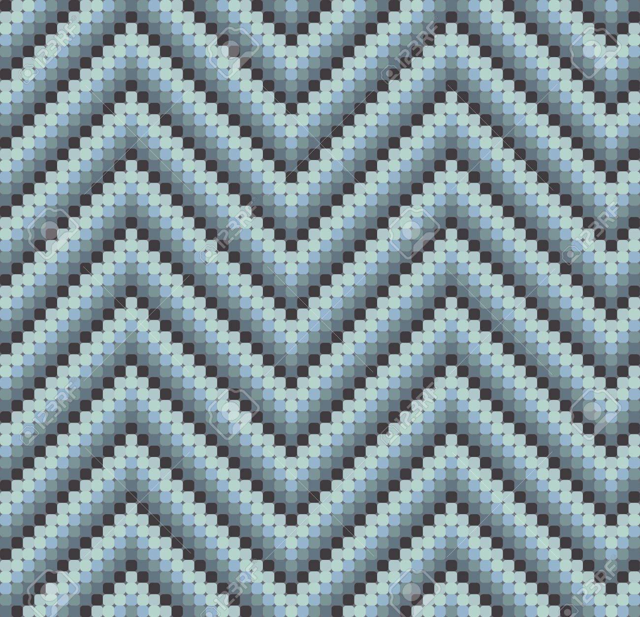 Eine Nahtlose 60er Jahre Retro-Zickzack-Muster In Kühlen Farben, Die ...