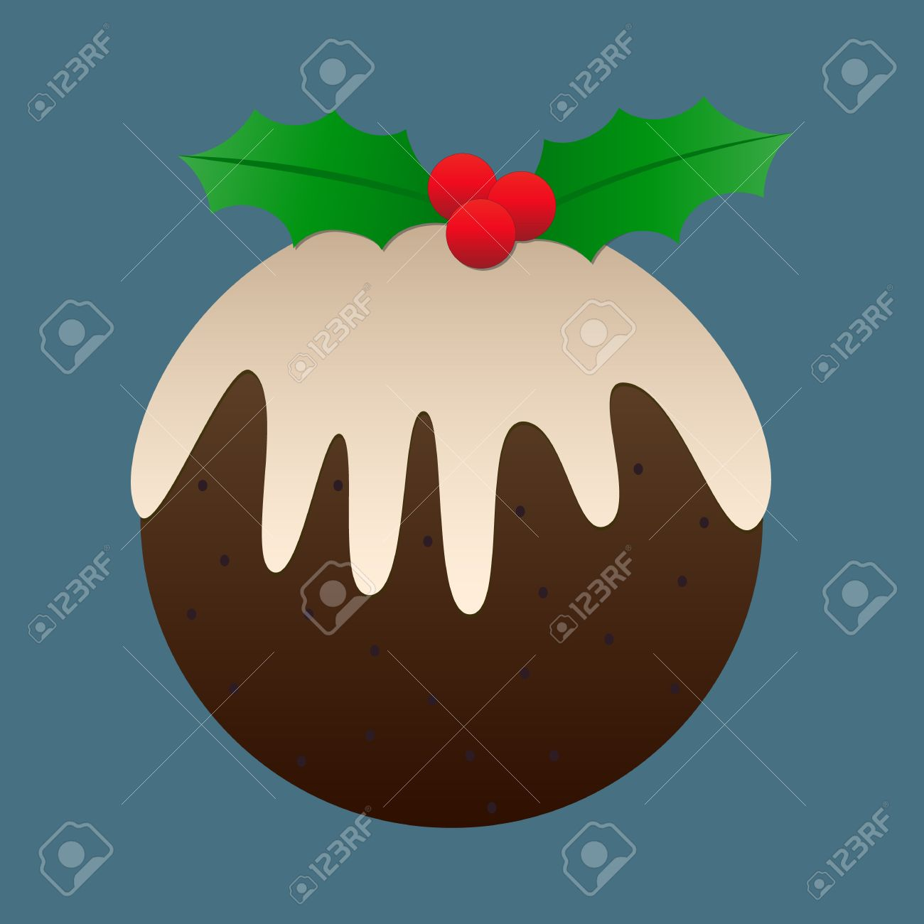 Cartoon christmas pudding pictures