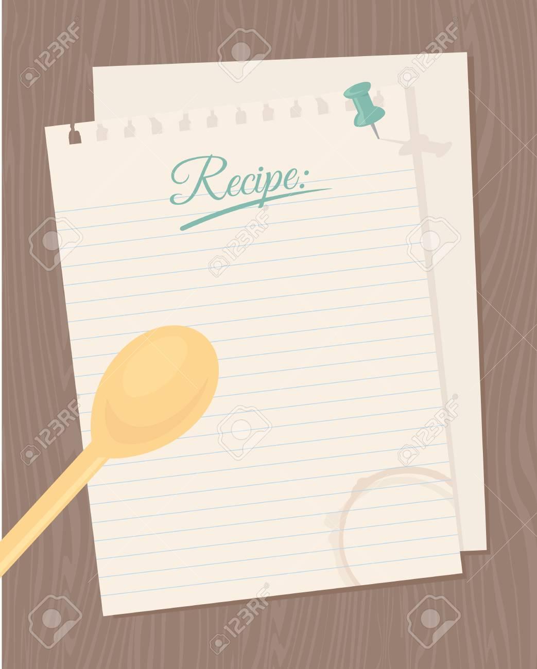 Leere Rezeptkarte Für Ihre Kulinarischen Kreationen. Lizenzfrei ...