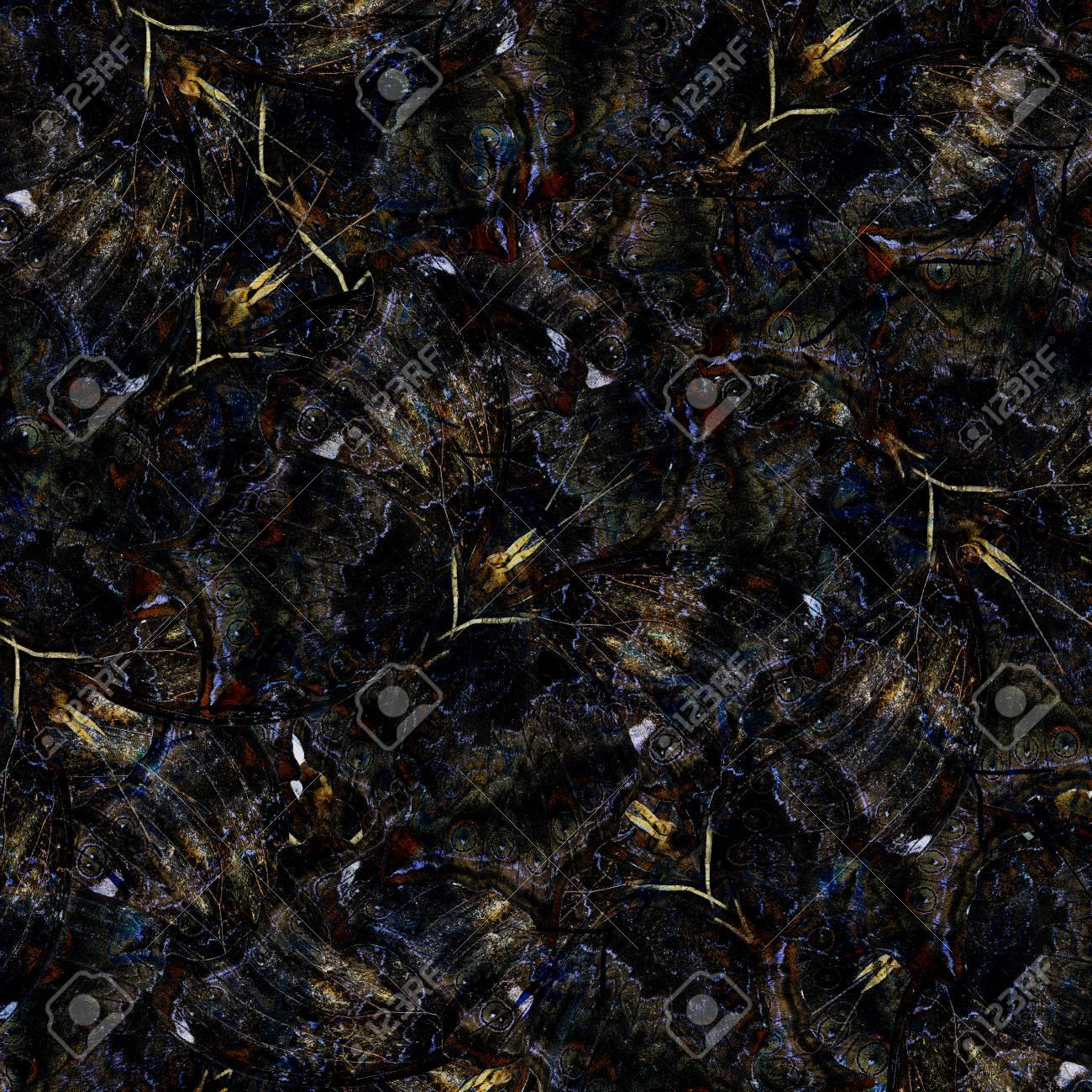 extotic dark blue background texture made of wizard butterflies