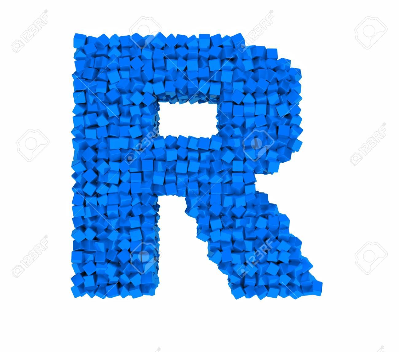 c16957eec0d7b 3d design the english alphabet cubes vrashenie a blue letter .