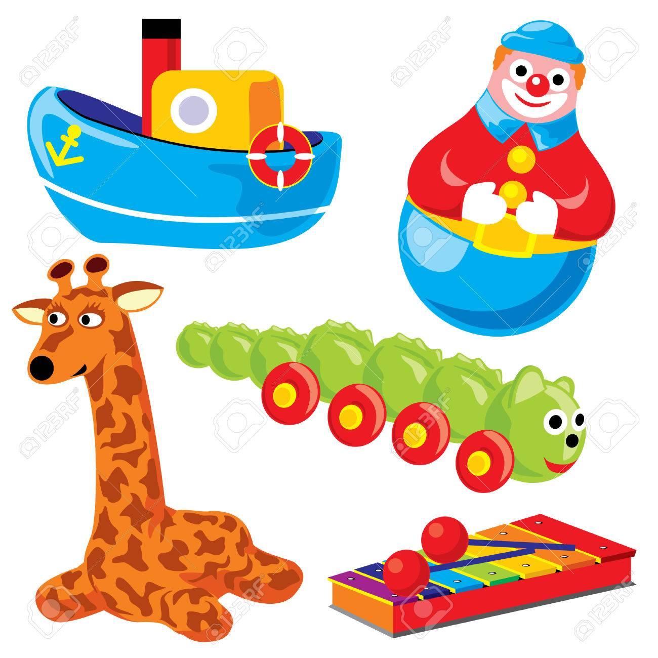 set children toys Stock Vector - 7325830