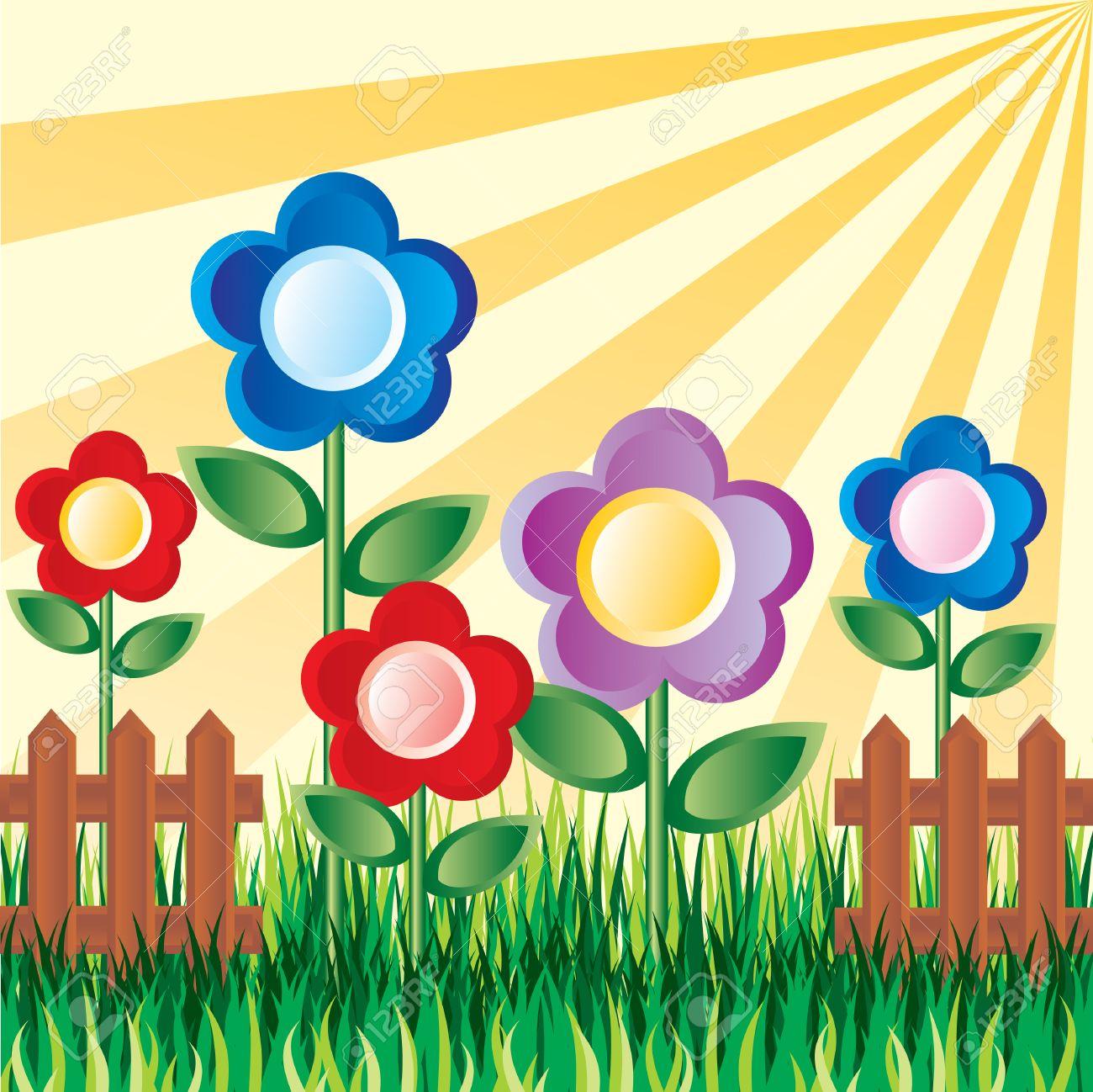 26+ Flower Garden Clipart Free