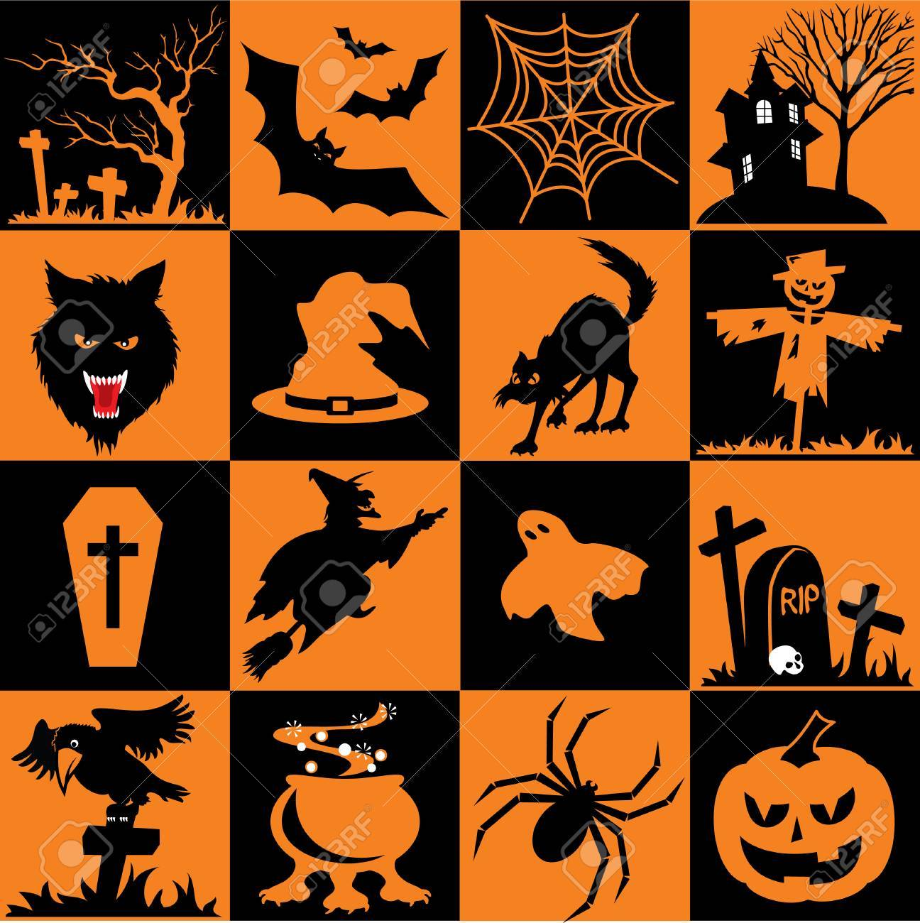 Set of  icons. Images for Halloween Stock Vector - 8077431