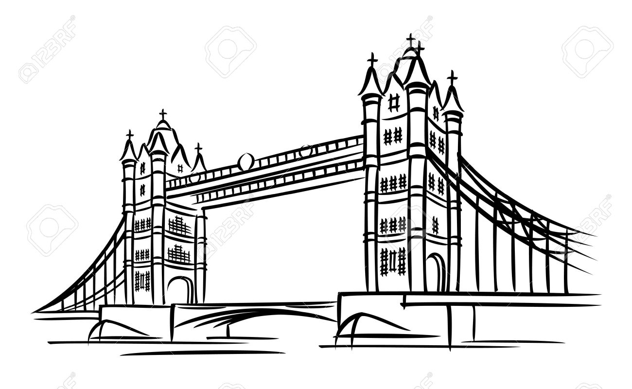 images of Tower Bridge in London Stock Vector - 9613878