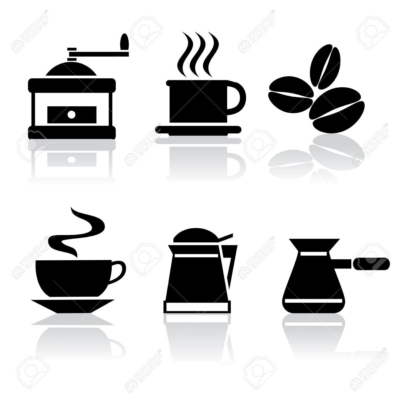 чёрно-белые картинки кофе