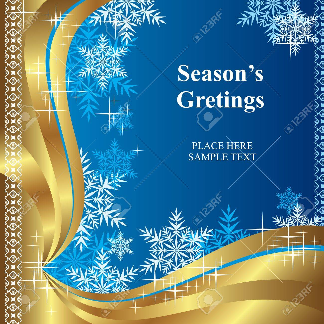 Vector Background Of Template Christmas Greetings Royalty Free
