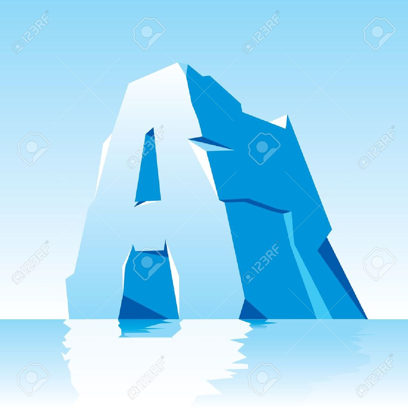 vector image of ice letter A Stock Vector - 16332281