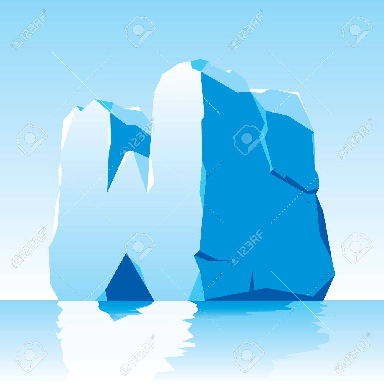 image of ice letter W Stock Vector - 16544520