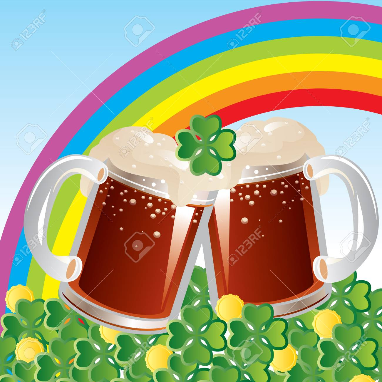 St  Patricks Day celebration Stock Vector - 17362089