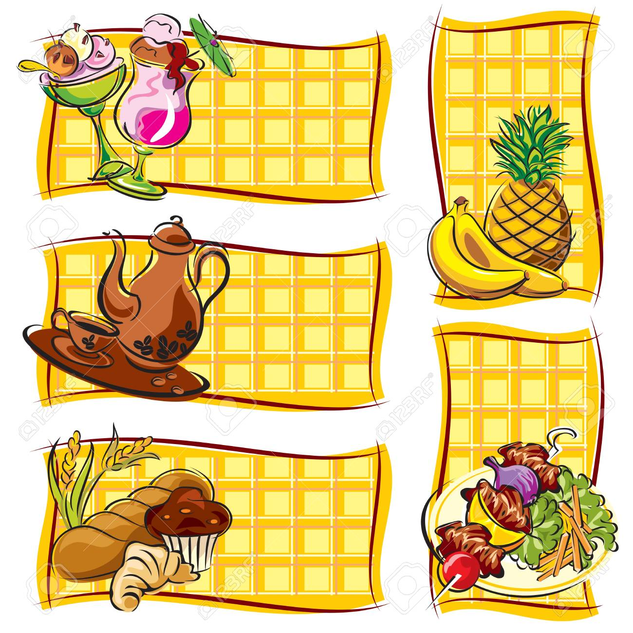 set vector label of images food Stock Vector - 17772175
