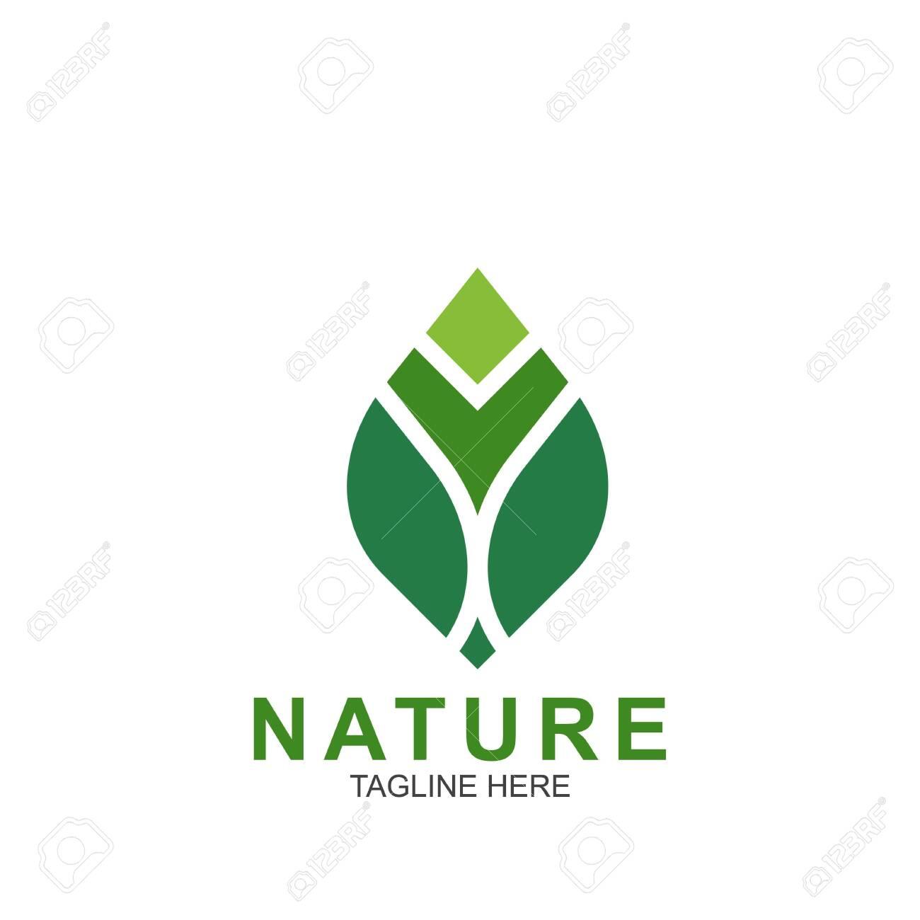 Leaf design logo Template. Green Nature Icon Design - 146554338