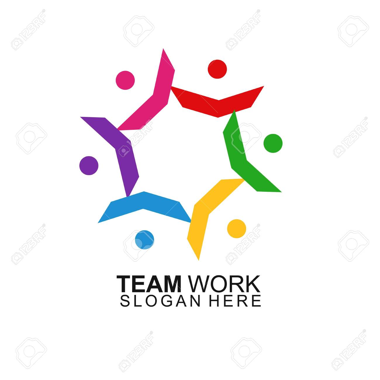 Team Work Logo Design. Modern Social Network Team Logo Design - 146612160
