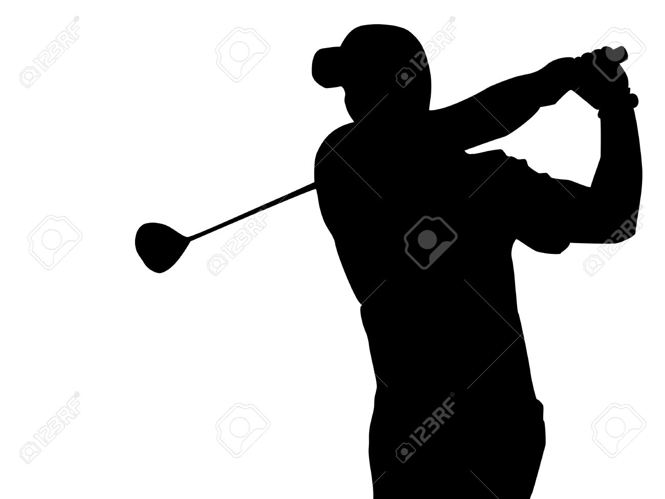 Epa Golfer Silhouette Royalty Free Cliparts Vectors And Stock