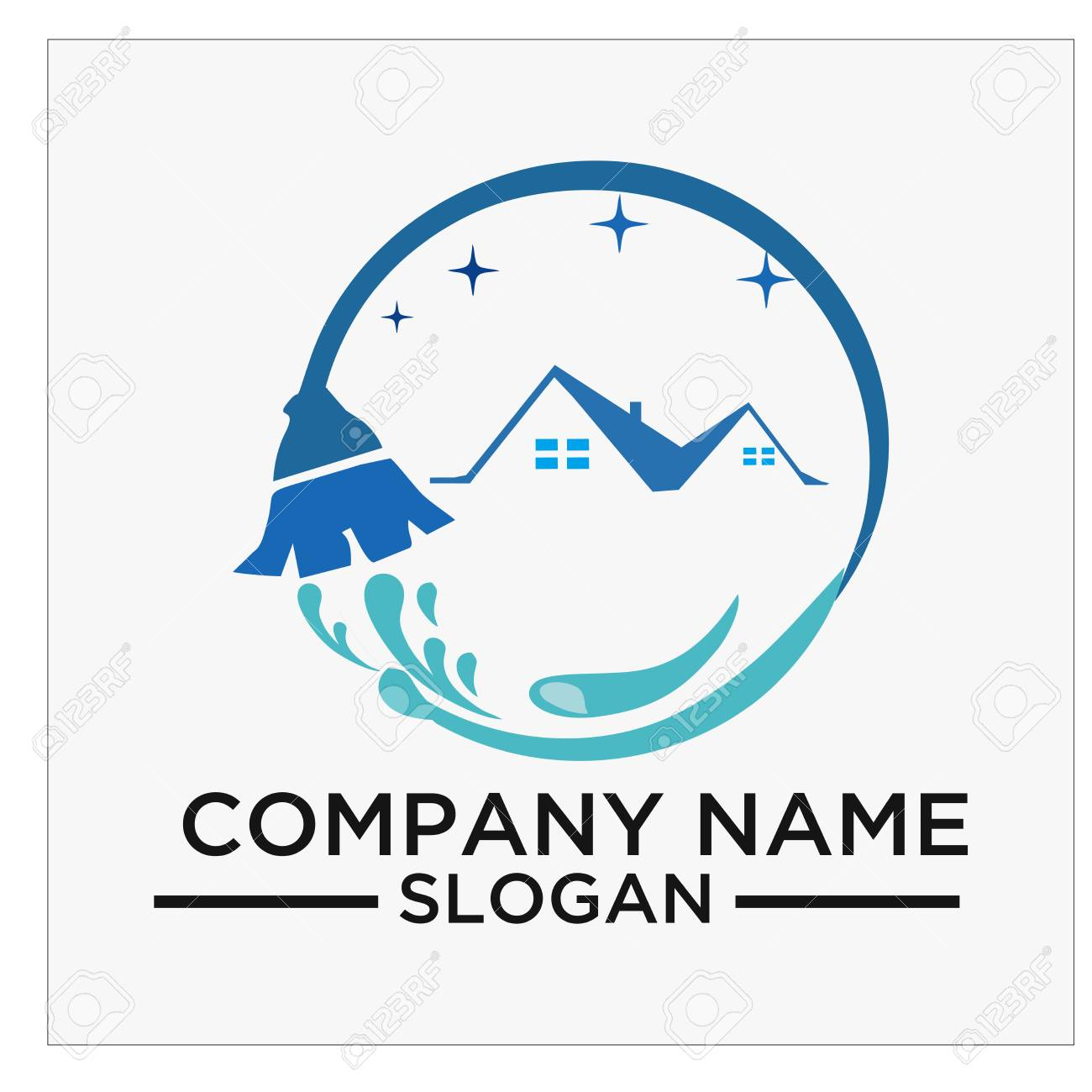 logo icon and vector for cleaning and maintenance royalty free rh 123rf com maintenance logos and images maintenance logo inspiration