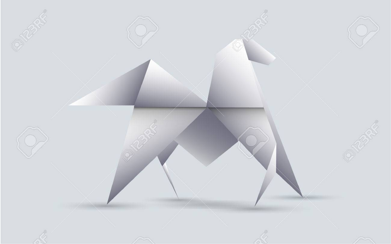 Horse Origami Royalty Free Cliparts Vectors And Stock Illustration