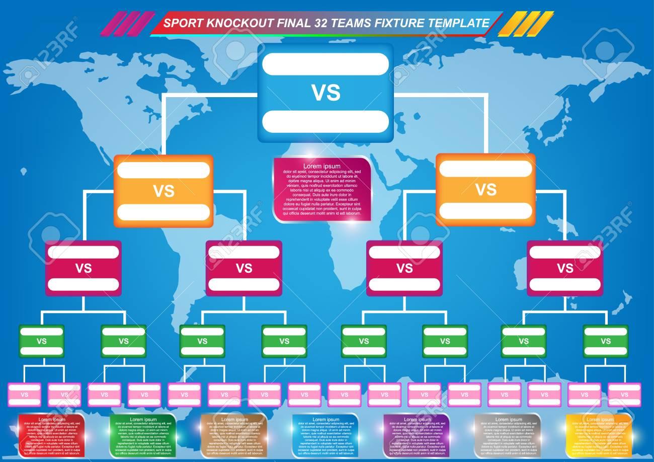 Sports fixtures template