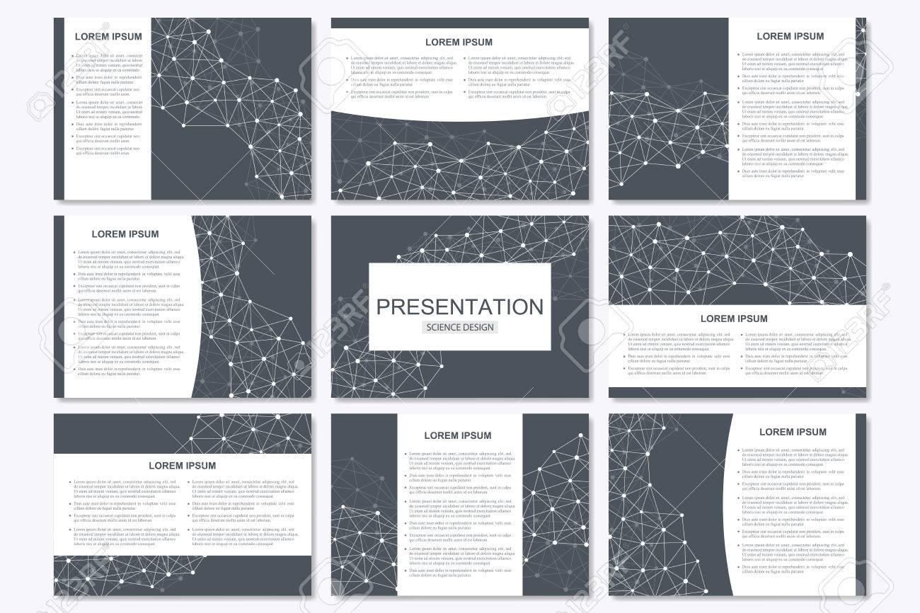 Reihe Von Modernen Business-Präsentation Vorlagen Im A4-Format ...