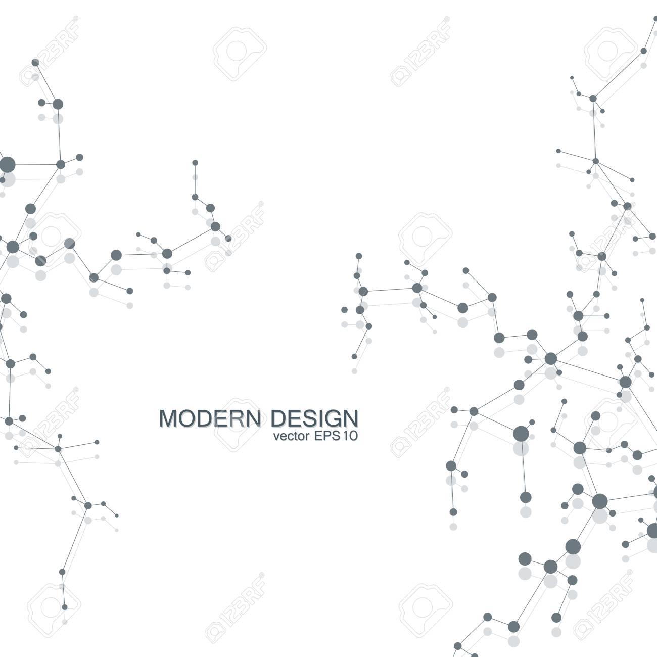 Da Estrutura Da Molécula De Dna E Neurônios átomo Estrutural Compostos Químicos Medicina Ciência Tecnologia Conceito Fundo Abstrato Geométrico
