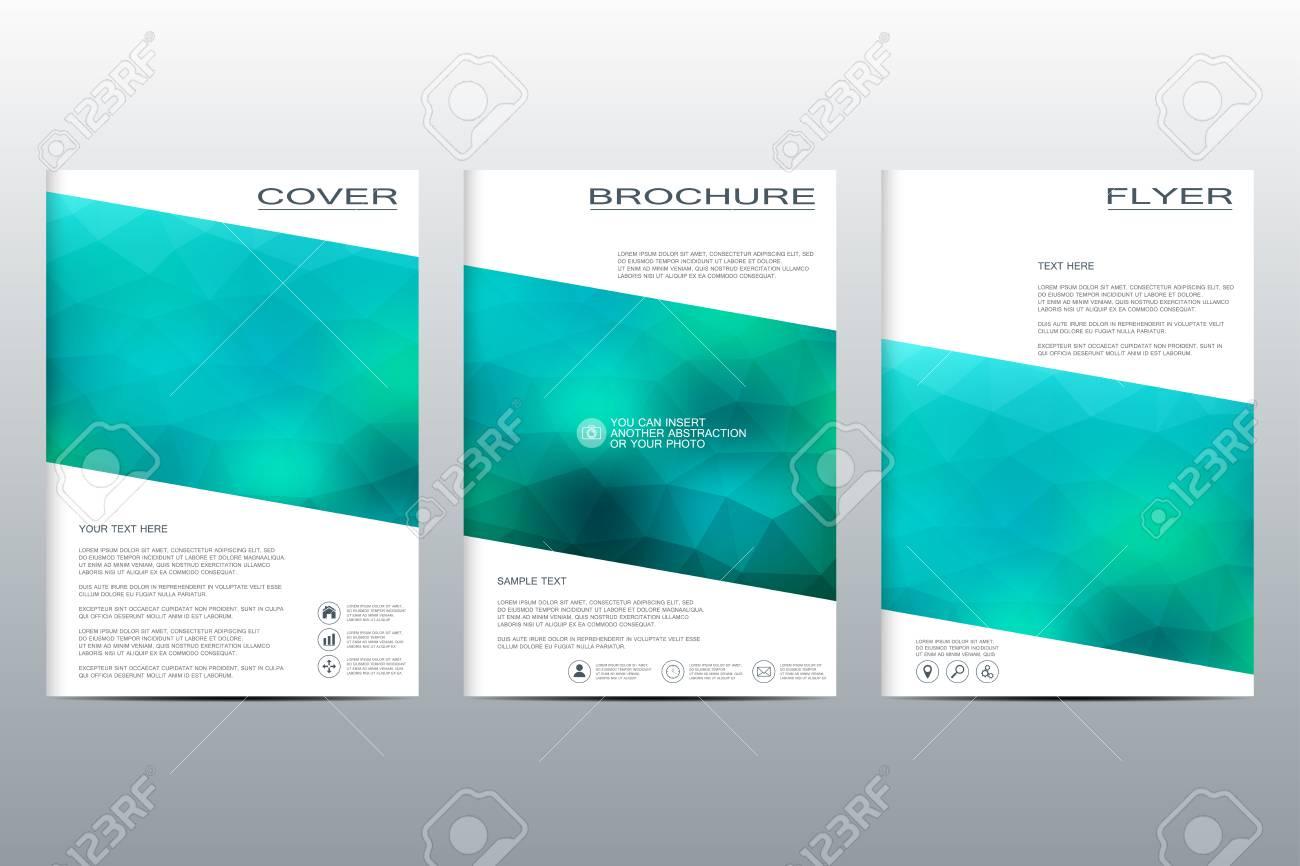 modello di brochure vettoriale flyer copertina in formato a4