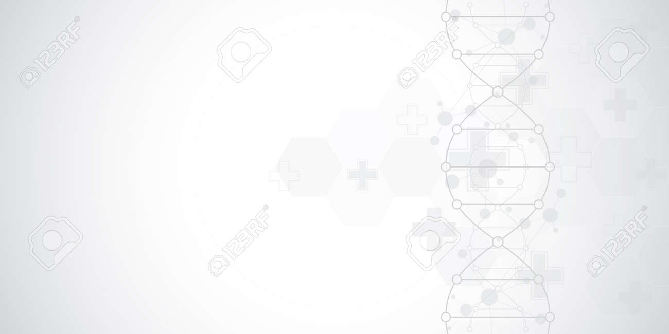 DNA strand background and genetic engineering or laboratory research. Medical technology and science concept. - 151689869