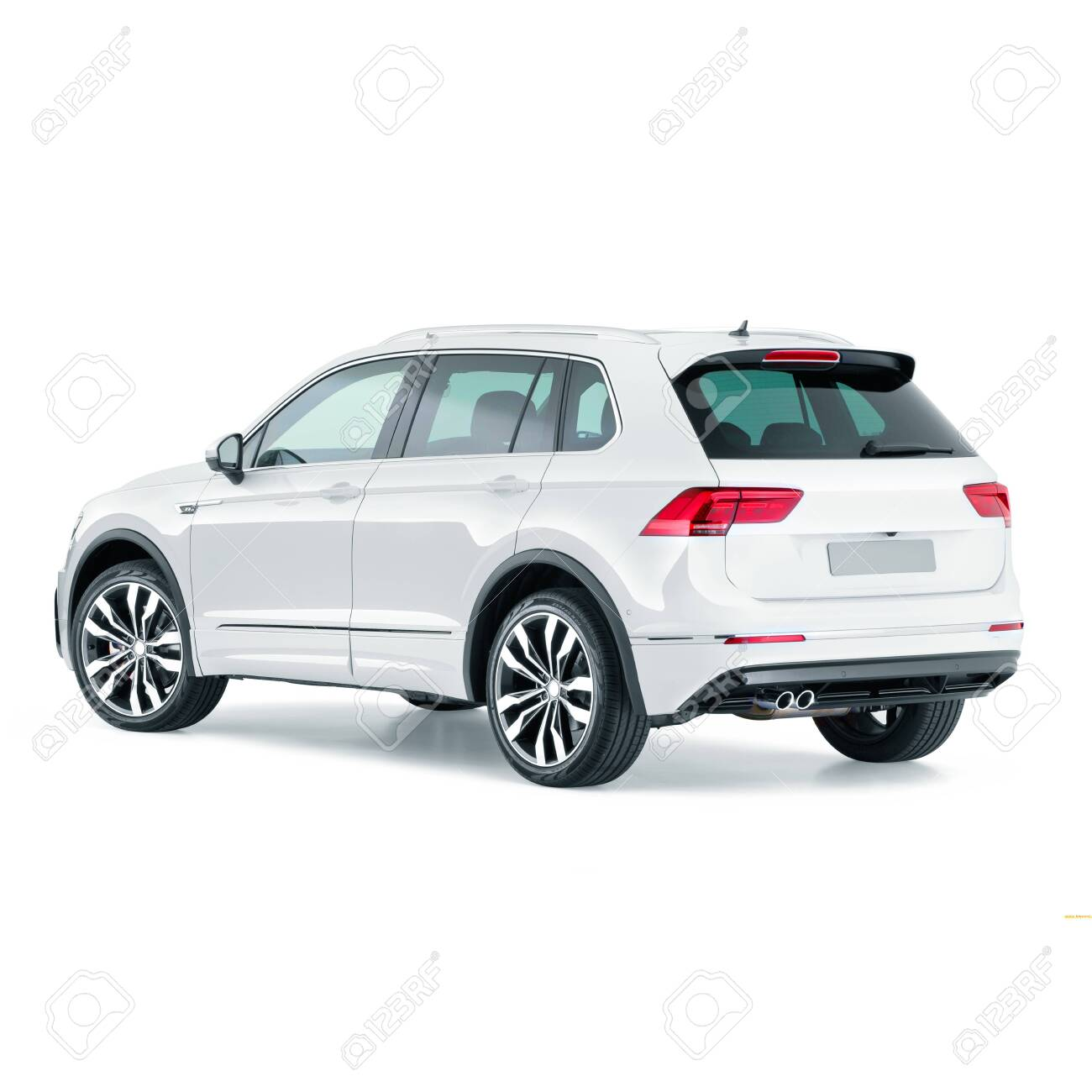 White Car Isolated On White Bakcground Side And Back View Of Stock Photo Picture And Royalty Free Image Image 149489267