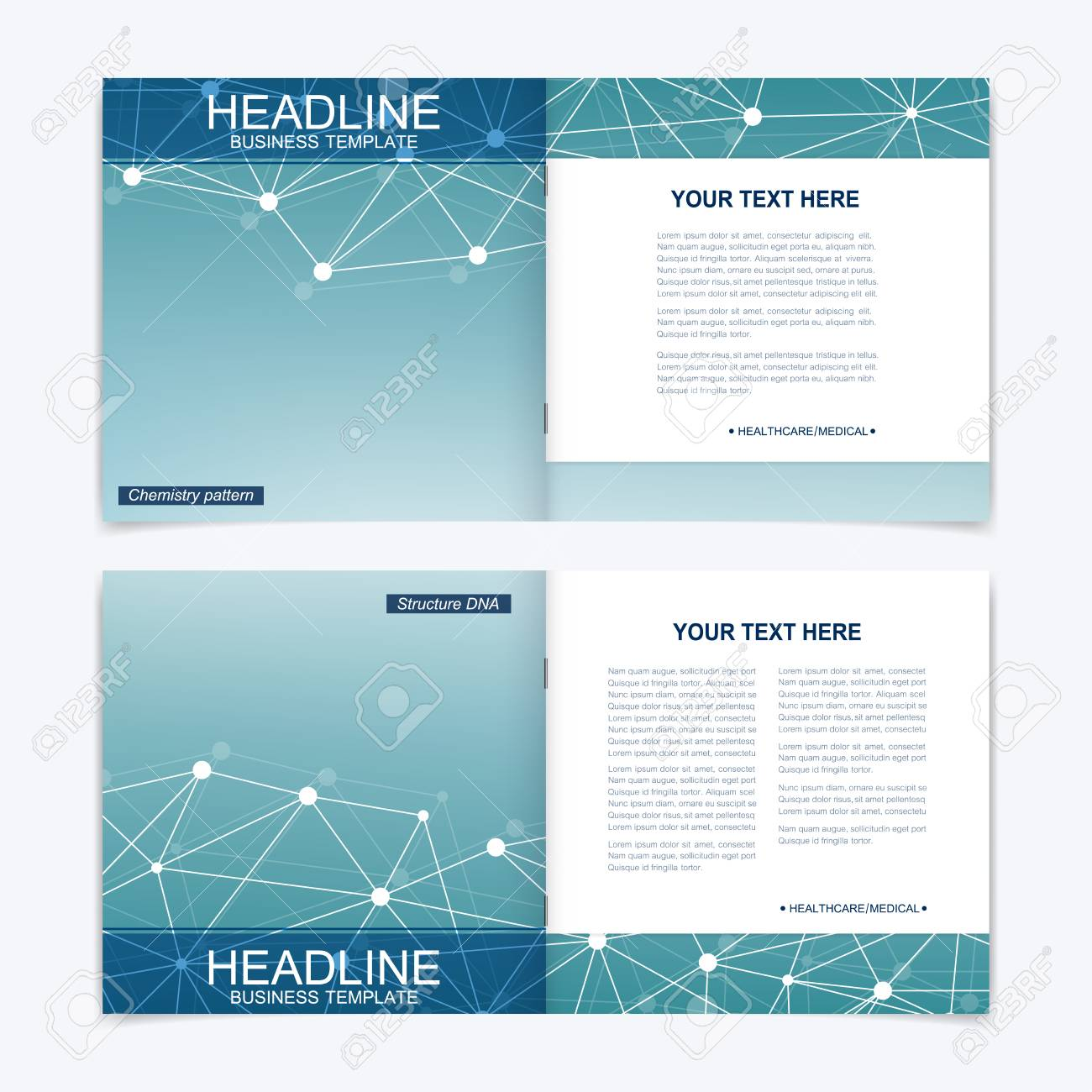 templates for square brochure leaflet cover presentation business