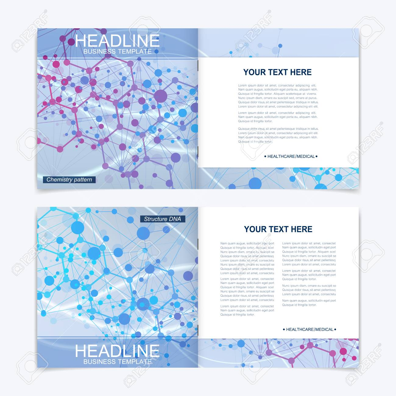scientific templates square brochure magazine leaflet flyer