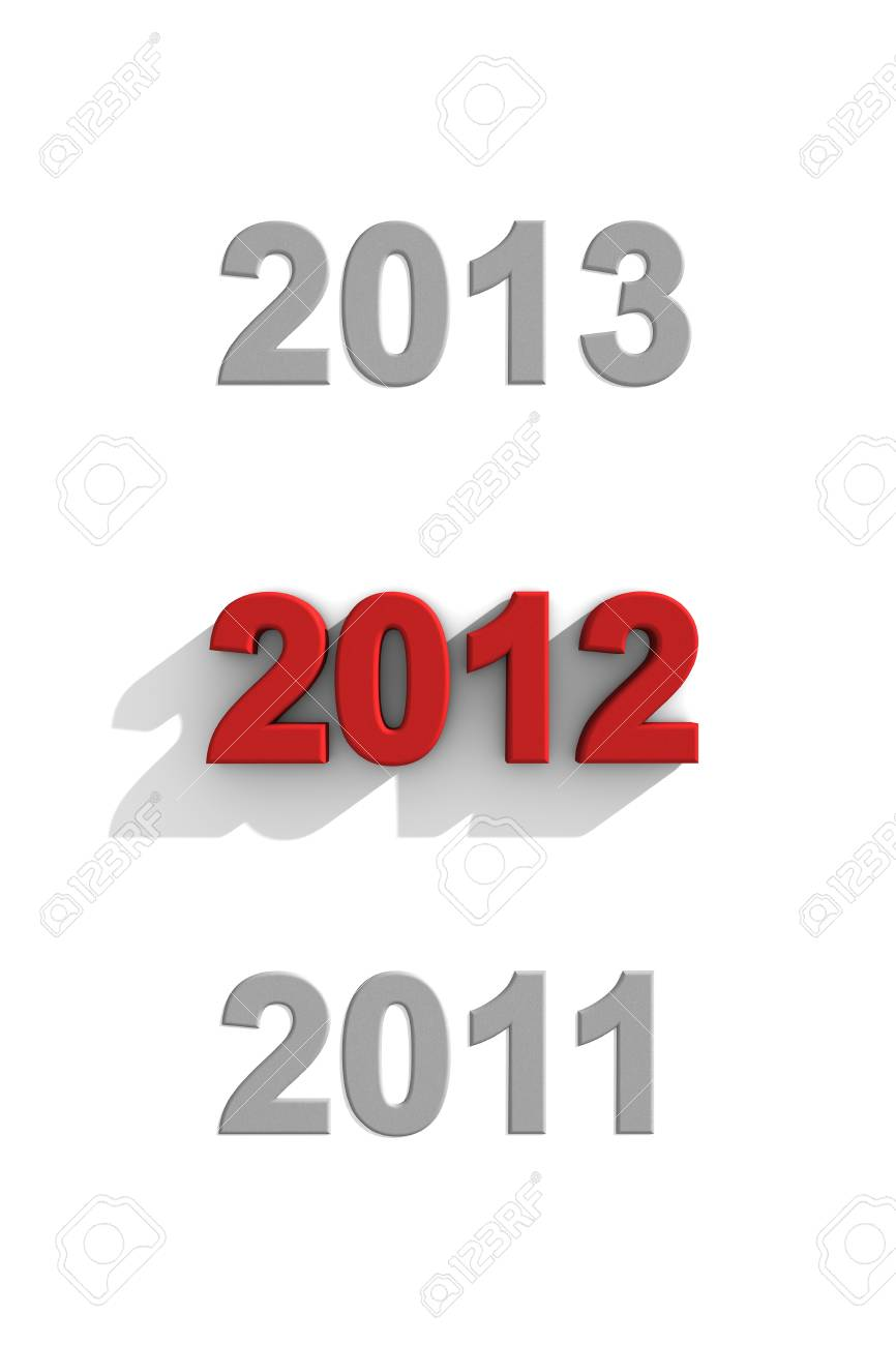 2012 red text in a sequence 2012 red text in a sequence of other years Stock Photo - 13441543