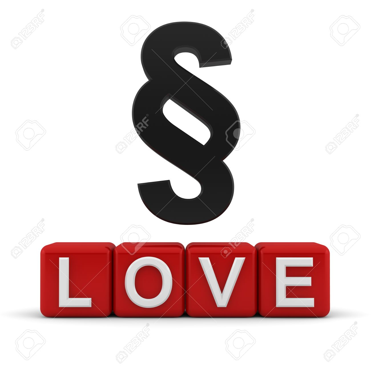 A section sign symbol over red 3d blocks with the word love stock a section sign symbol over red 3d blocks with the word love stock photo 13499887 buycottarizona Choice Image