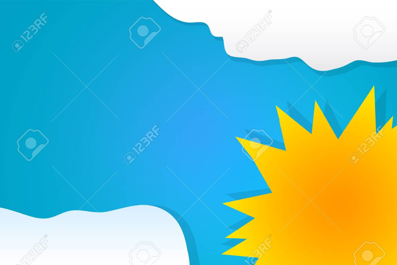 Sun on the sky with clouds Stock Vector - 18181417
