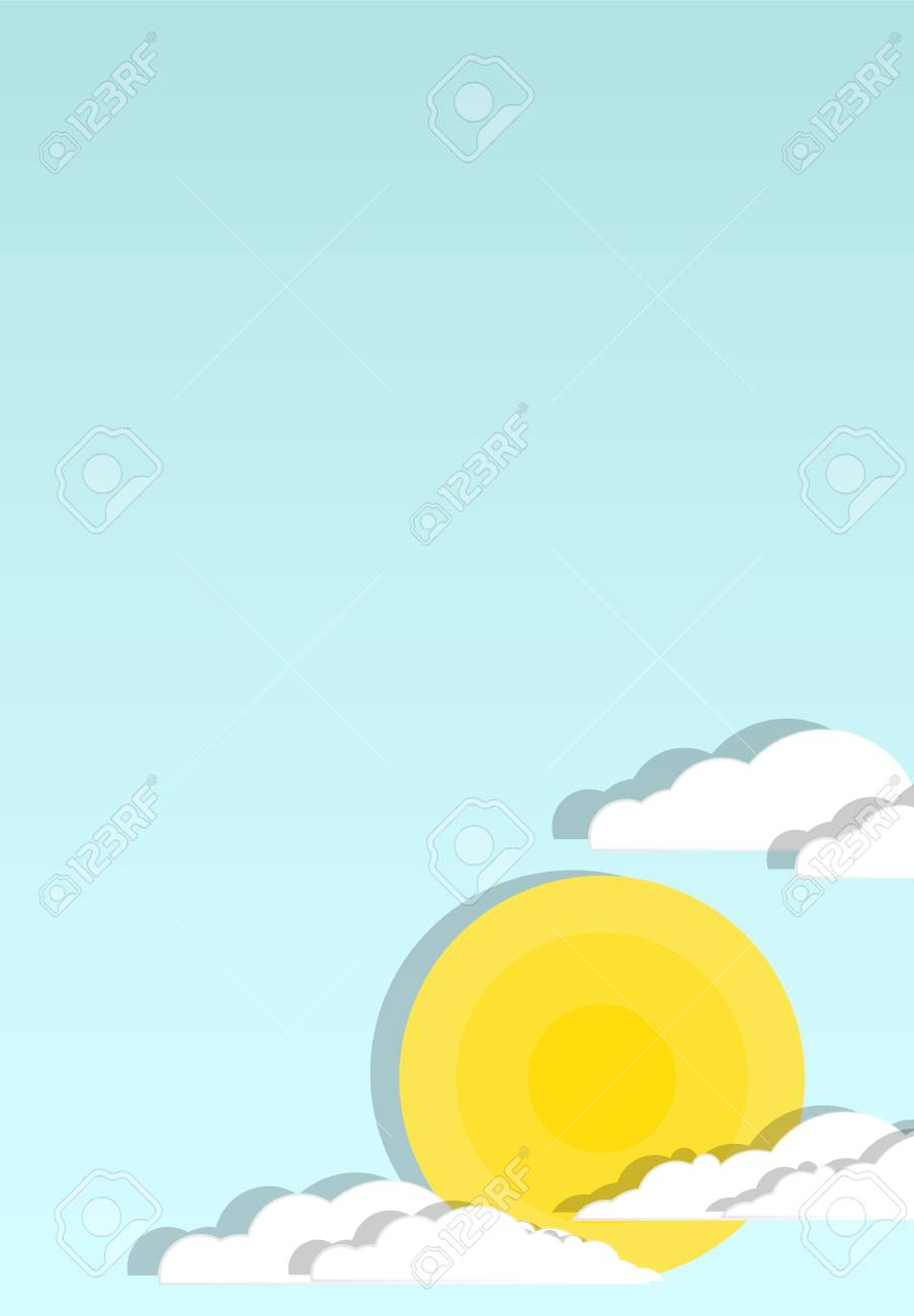 Sun in clouds with blue sky Stock Vector - 18810711