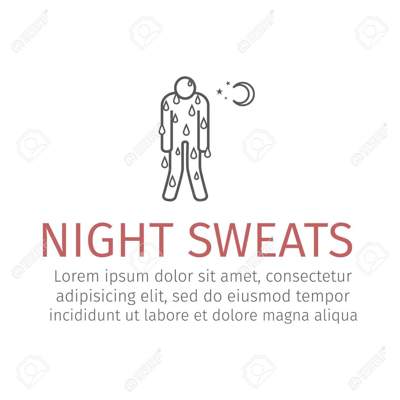 Night Sweats line icon  Vector